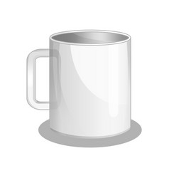 White cup isolated icon vector