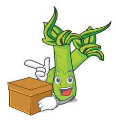 With box wasabi character cartoon style vector