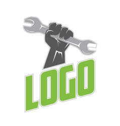 Wrench in Hand Logo vector image