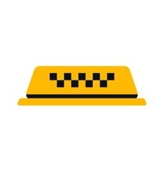 Yellow taxi car sign vector