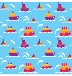 Background with boats vector image vector image