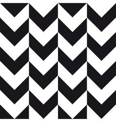 big chevron background black white vector image vector image