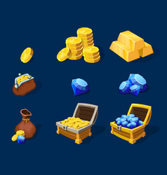Cartoon Treasure Elements Set vector image vector image
