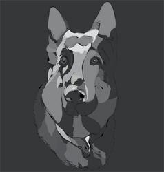 dog guard vector image