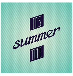 It is summer time lettering design vector image vector image
