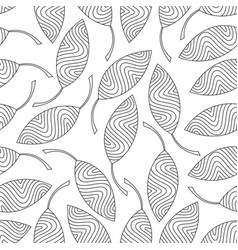 seamless pattern of striped leaves vector image