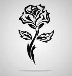 Tribal Rose vector image