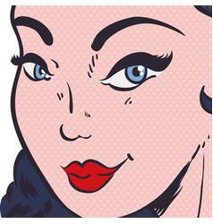 woman pop art comic vector image
