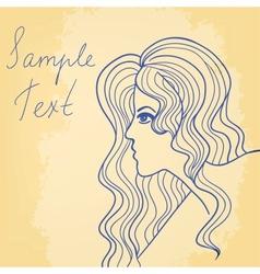 Beautiful girl card vector image vector image