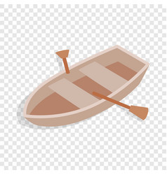 boat with oars isometric icon vector image vector image