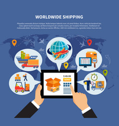colored logistic composition vector image