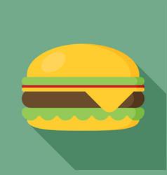 hamburger icon with long shadow flat style vector image