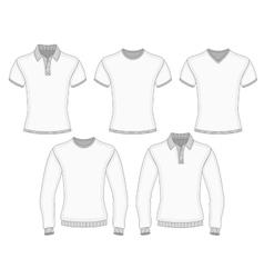 Mens polo shirt and t-shirt vector image