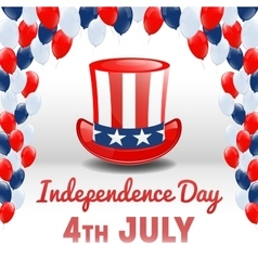 American Independence Day 4th of July USA Holiday vector image