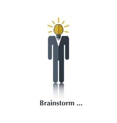Brainstorm vector image