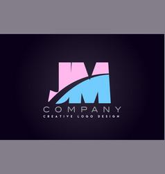 jm alphabet letter join joined letter logo design vector image