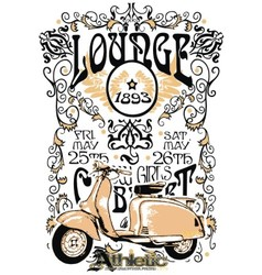 classic vintage motorcycle vector image vector image