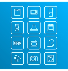 household appliances icons 4 vector image vector image