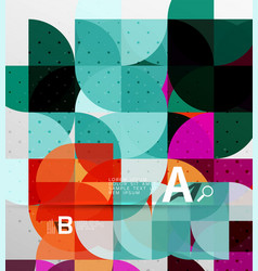 minimalistic circle geometric abstract background vector image vector image