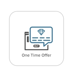 One Time Offer Icon Flat Design vector image