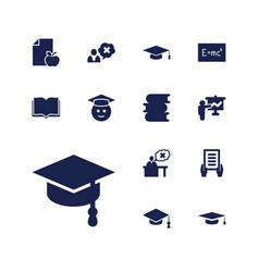 13 university icons vector