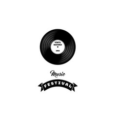 a vinyl record retro music vector image