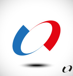 Abstract Letter O Icon vector image