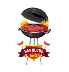Barbecue tasty brazier set vector