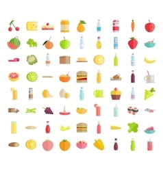 Big Collection of Food Concepts in Flat Design vector