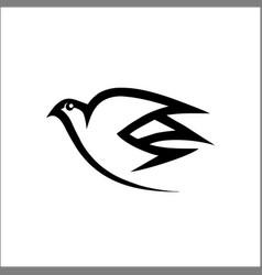 bird logo line monoline logo abstract vector image