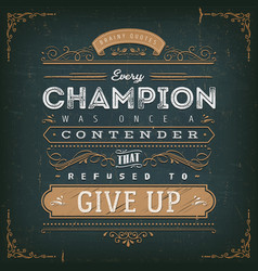 Business and sport motivation quote poster vector
