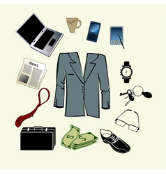 bussiness man accessories vector image