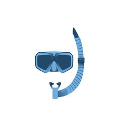 cartoon scuba diving snorkel and mask vector image