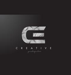 Ce c e letter logo with zebra lines texture vector