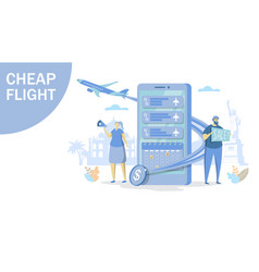 cheap flight concept for web banner vector image