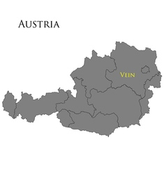Contour map of Austria vector image