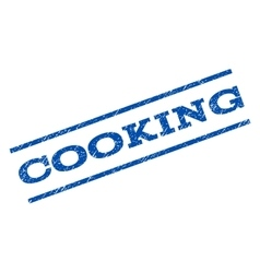 Cooking Watermark Stamp vector