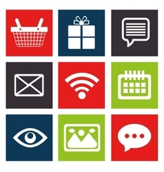 Cyber monday set icon media vector