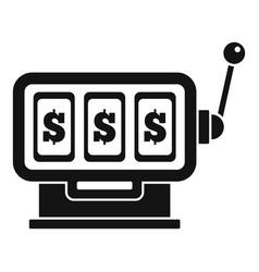 dollar slot machine icon simple style vector image