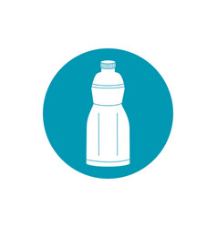 Drinks plastic bottle freshness liquid blue block vector