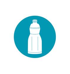drinks plastic bottle freshness liquid blue block vector image