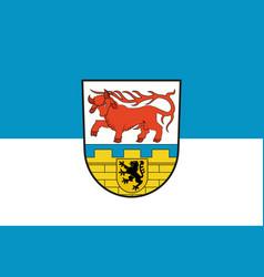 Flag of oberspreewald-lausitz in brandenburg vector