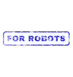 for robots rubber stamp vector image