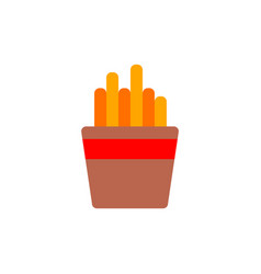 French fries in paper box french fries fast food vector