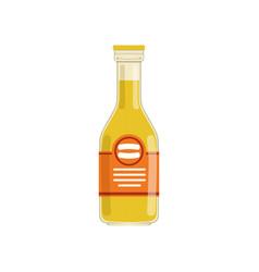 Fresh orange juice or lemonade in glass bottle vector