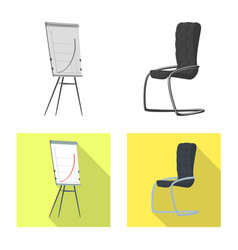 Furniture and work sign vector