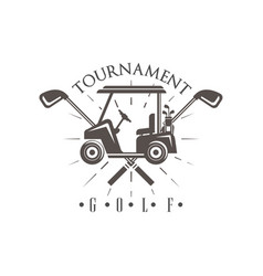 Golf tournament logo vintage label for golf vector