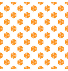 hexagon patern yellow bee cell vector image