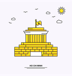 Ho chi minh monument poster template world travel vector