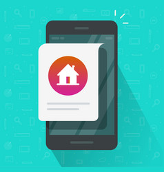 home house notice online message on mobile phone vector image